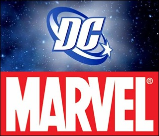 DC Marvel logos