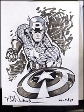 Captain America sketch by Todd Nauck
