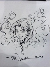 Young Justice sketch by Todd Nauck