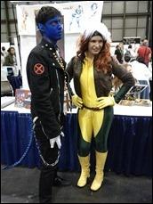 Nightcrawler and Rogue cosplay