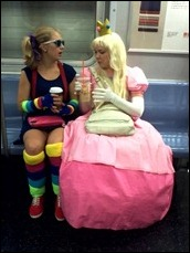 Princess Peach and Rainbow Bright