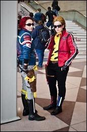 female cosplayers