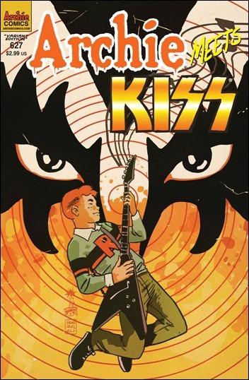 Archie #627 Francavilla cover - Archie Meets Kiss