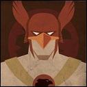 Hawkman mugshot print by Michael Myers