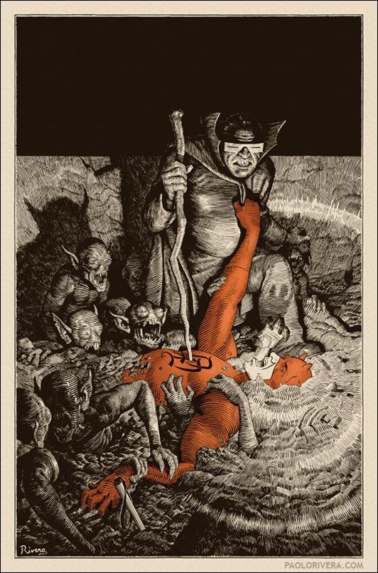 Daredevil #10 (2012) cover by Paolo Rivera