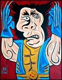 Superheroes in a Picasso style by Mike Esparza