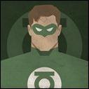 Green Lantern mugshot print by Michael Myers