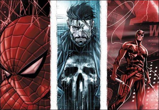Spider-Man, Punisher, Daredevil