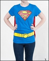 Supergirl caped t-shirt front