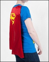 Supergirl caped t-shirt back