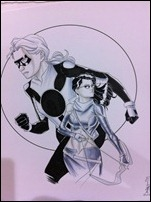 Stature and Hawkeye from Young Avengers