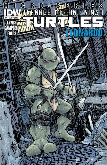 TMNT Micro Series #4: Leonardo Petersen cover