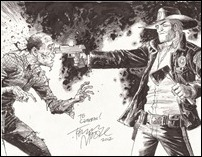 Tony Moore Walking Dead 8.5x11 ECCC 2012