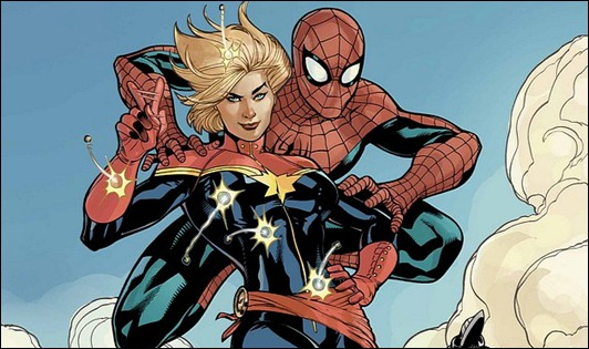 New Captain Marvel & Spider-Man by Terry Dodson