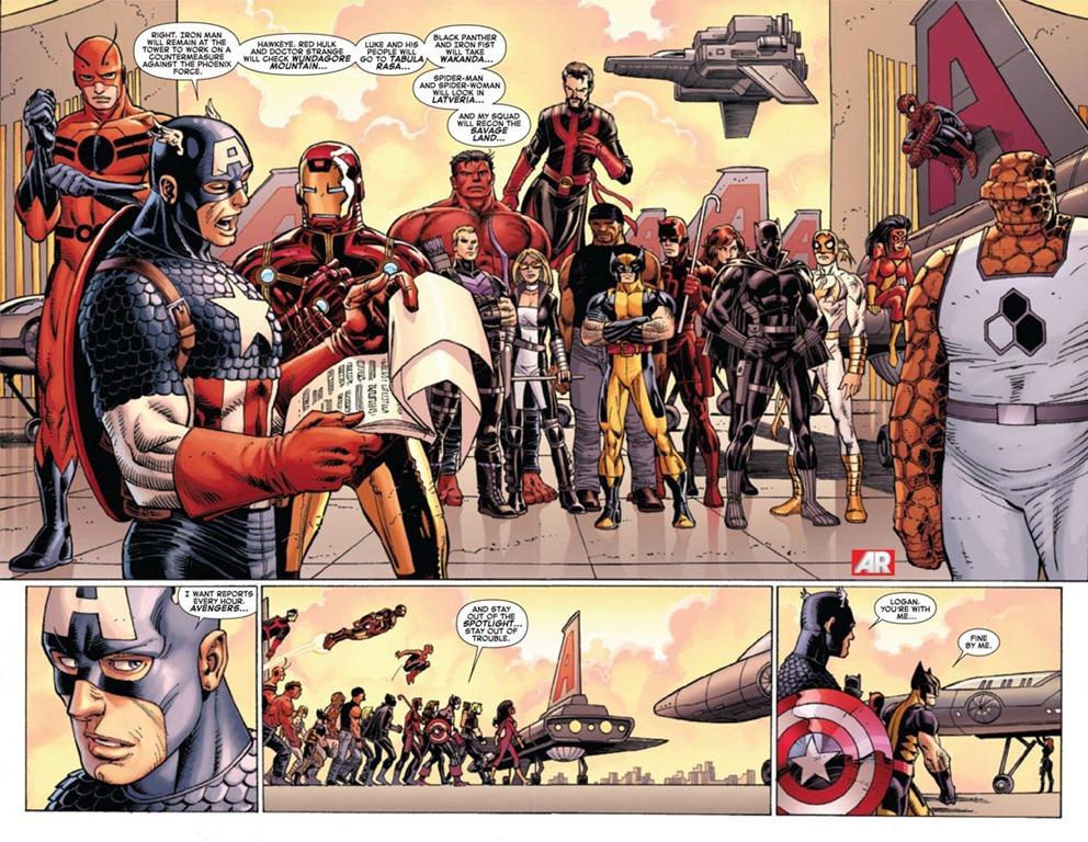 Captain America Vs. Wolverine In Avengers Vs. X-Men #3