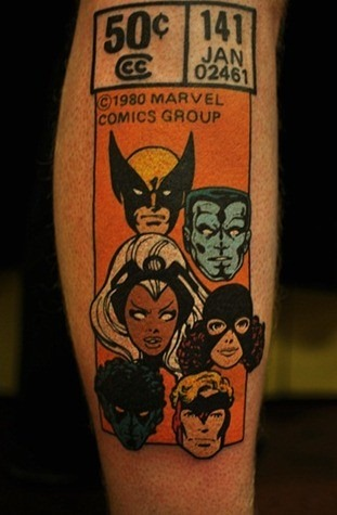 Comic book tattoo gallery for Marvel comics tattoos