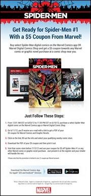 Spider-Men Digital Coupon Promo
