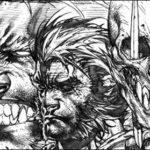 "Wolverine #310 ""Sabretooth Reborn"" Sketch Variant Cover by Stephen Platt"