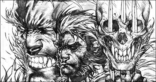 Wolverine # 310 Cover Variant Platt Sketch