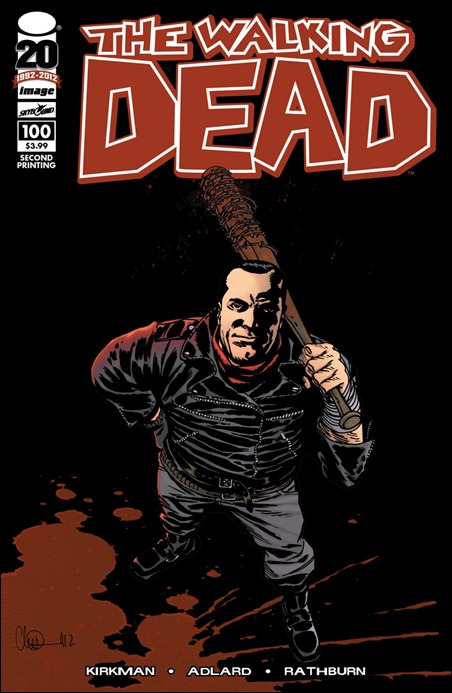 The Walking Dead #100 second printing cover