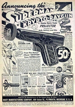 Superman Krypto-Raygun Ad