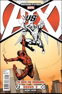 Avengers vs X-Men #9 Team Avengers Variant cover
