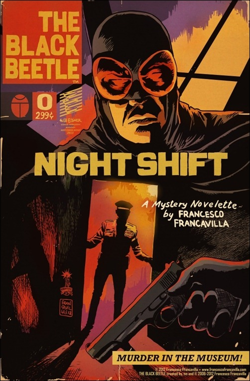 The Black Beetle #0 Cover by Francesco Francavilla