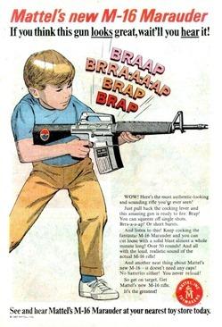 Mattel M-16 Marauder Toy Gun Ad
