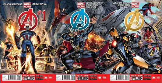 Avengers #1 #2 & #3 covers