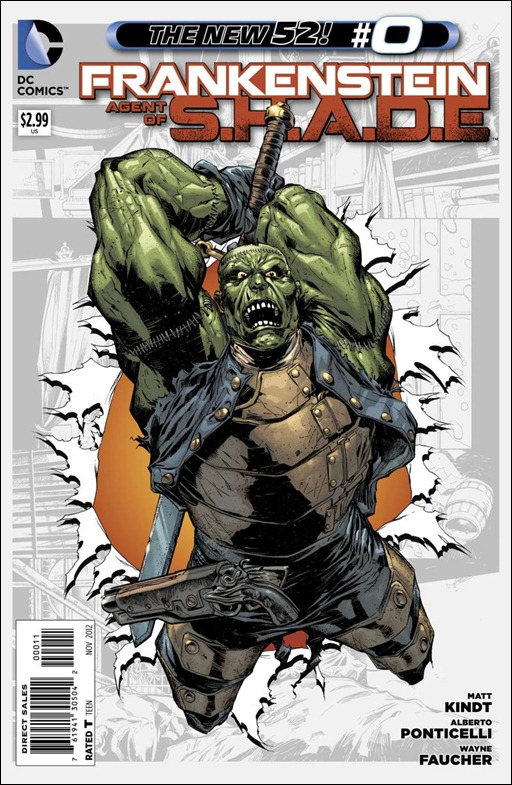 Frankenstein, Agent of S.H.A.D.E. #0 Cover