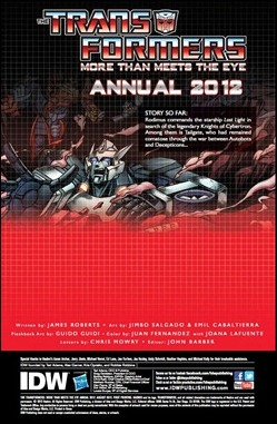 Transformers: More Than Meets the Eye Annual 2012 Preview 1