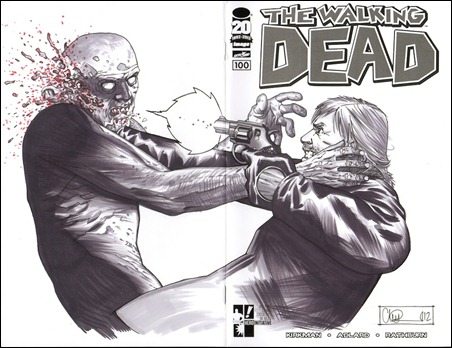 Walking Dead #100 Adlard Sketch Cover
