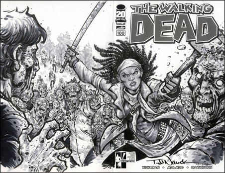 Walking Dead #100 Nauck Sketch Cover