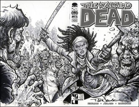 Walking Dead #100 Nauck Sketch Cover