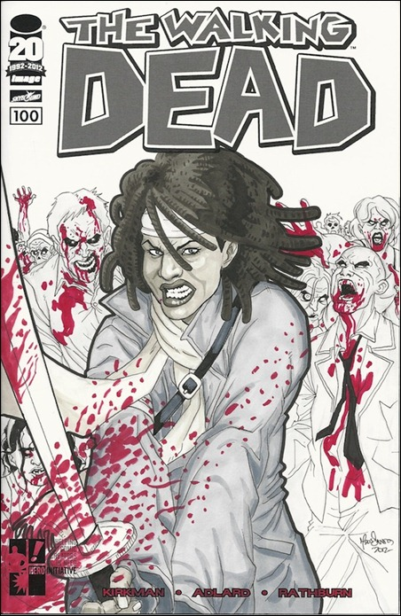 Walking Dead #100 dos Santos Sketch Cover
