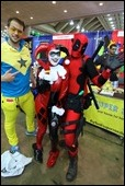 Booster Gold, Harley Quinn, & Deadpool