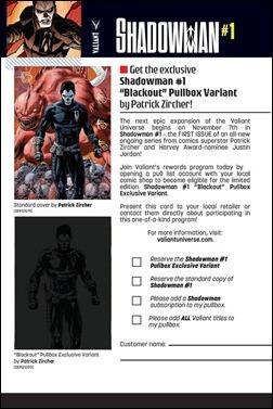 Shadowman #1 Pullbox Variant Order Form