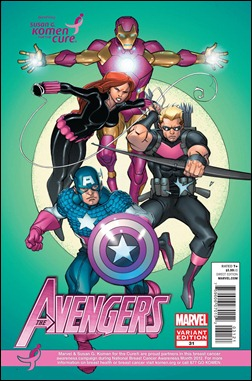AVENGERS #31 KOMEN VARIANT by Pasqual Ferry & Chris Sotomayor