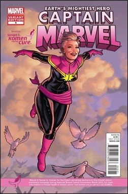 CAPTAIN MARVEL #5 KOMEN VARIANT by Joe Quiñones