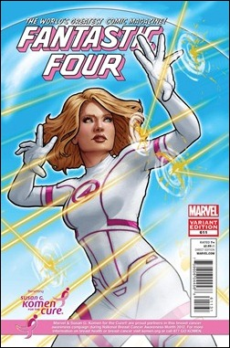 FANTASTIC FOUR #611 KOMEN VARIANT by John Tyler Christopher