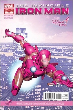 INVINCIBLE IRON MAN #526 KOMEN VARIANT by Paul Renaud
