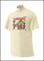 Marvel Exclusive NYCC 2012 'Avengers Album' T-Shirt