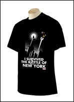 Marvel Exclusive NYCC 2012 'Battle of New York' T-Shirt