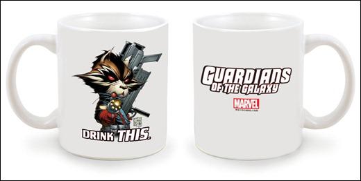 Marvel Exclusive NYCC 2012 Rocket Raccoon Mug by Joe Quesada