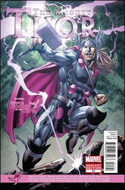 THE MIGHTY THOR #21 KOMEN VARIANT by Mike Perkins & Sonia Oback