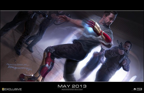 """Iron Man 3Ó..ÒIn Iron Man 3, Tony Stark suffers his most devastating attack, and must rely on his greatest assets, his ingenuity and instincts.Ó..Artist: Ryan Meinerding..TM & © 2012 Marvel & Subs. All rights reserved. www.marvel.com www.ironmanmovie3.com"