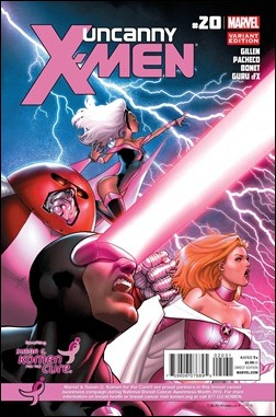 UNCANNY X-MEN #20 KOMEN VARIANT  by David Marquez & Chris Sotomayor