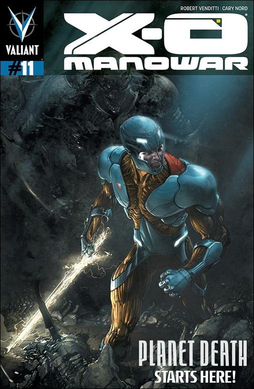 X-O Manowar #11 Cover - Crain