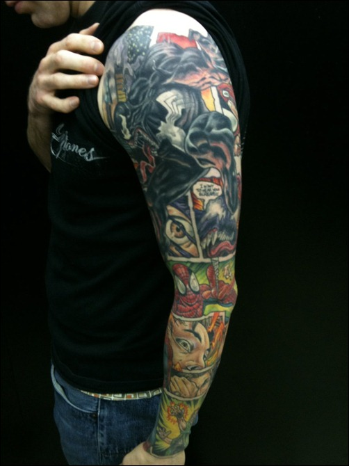 full sleeve Spider-Man/Venom page by Guy Tinsley
