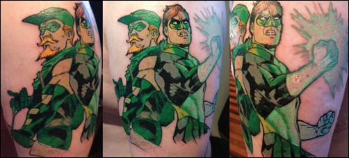 Green Lantern Green Arrow tattoo by Paul Abstruse